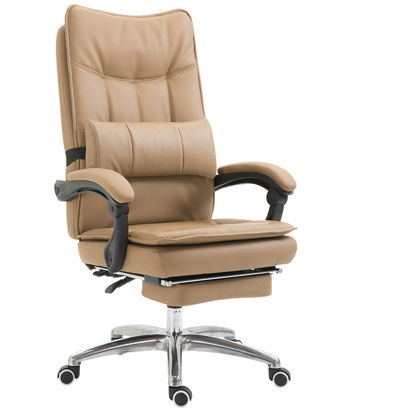 Genuine Leather Computer Boss Chair Home Synthetic Leather Office Chair Swivel Lifting Gaming Chair Reclining Silla Oficina