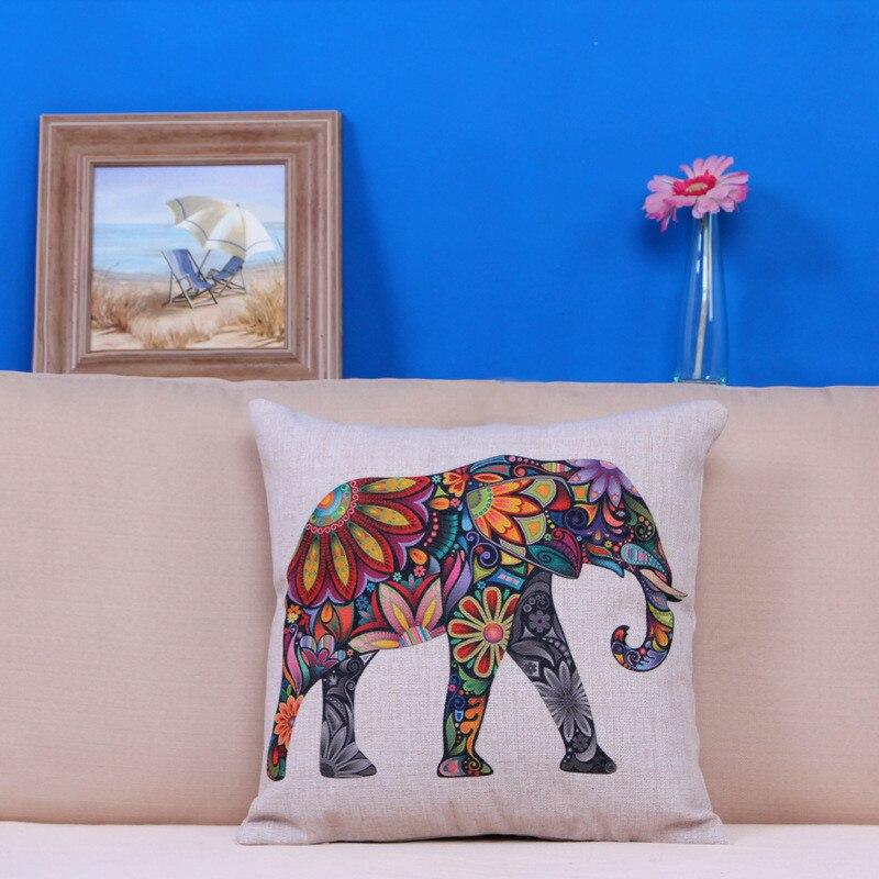 Quality Colorful pillow case slip animal vintage cushion case square cover pillow retro 45cm on sale