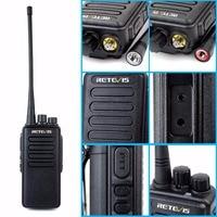 מכשיר הקשר 10W מקצועי מכשיר הקשר Retevis RT1 VHF (UHF) 16CH 3000mAh סוללה VOX סריקה מערבל 1750Hz Tone 2 אנטנה ווקי טוקי (2)