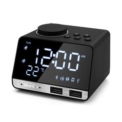 Inlife K11 Bluetooth 4.2 Radio Alarm Clock Speaker With 2 USB Ports LED Digital Alarm Clock Home Decration Snooze Table Clock