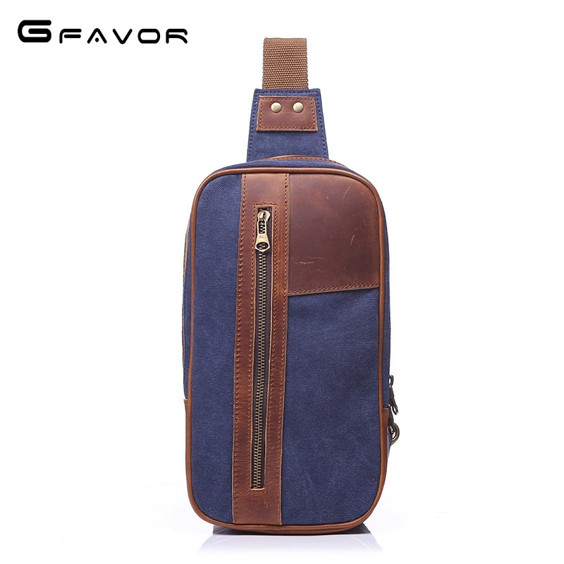 Double Zipper Vintage Canvas Chest Bag Men High Quality Crossbody Bag Casual Travel Shoulder Bag Fashion High Capacity Chest Bag vintage canvas chest bag men new crossbody shoulder bag multifunction casual travel bag fashion large capacity chest bag for men