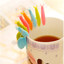 5 PCS Cute Snail Shape Silicone Tea Bag Holder Cup Mug Candy Colors Gift Kitchen Tools Set Random Color