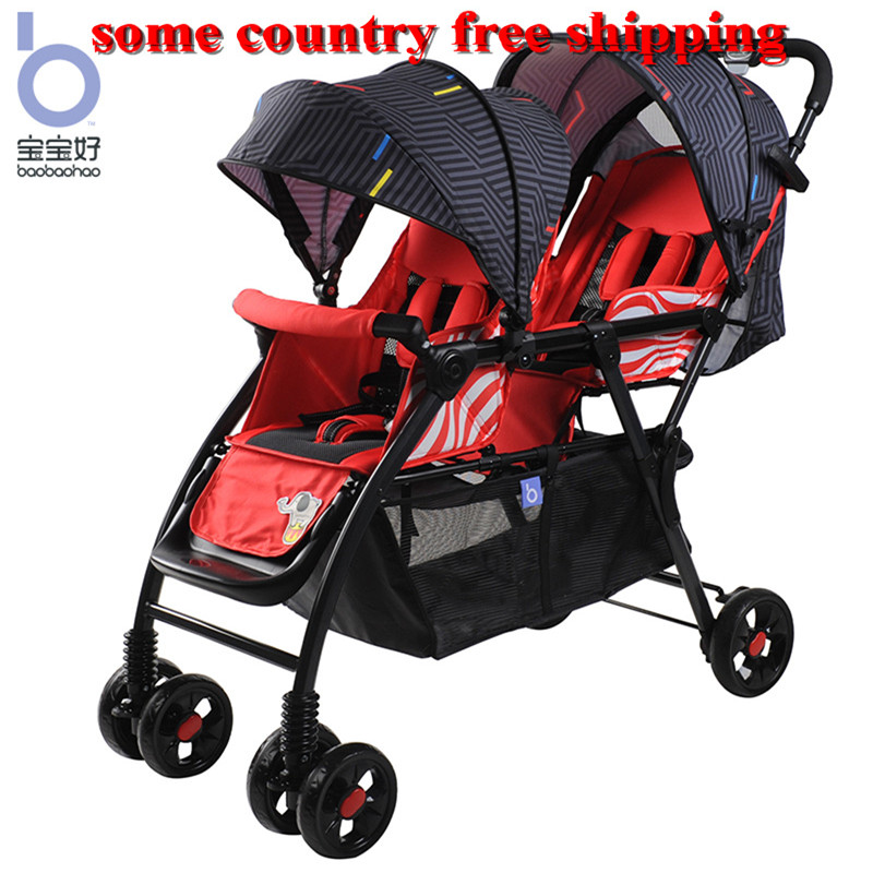 Baby twin stroller can sit lie down easy foldable portable double parm sister brother strollerBaby twin stroller can sit lie down easy foldable portable double parm sister brother stroller
