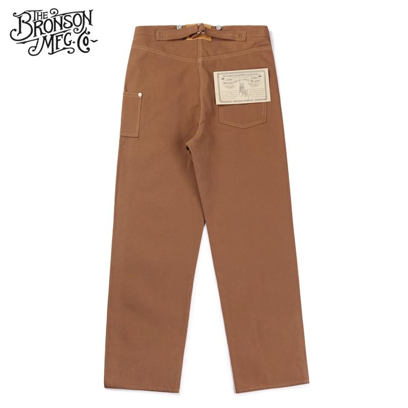 Brun Toile De Canard Fatigue Vintage Repro Logger 1873 Hommes Bronson Pantalon 0N8Owvmn