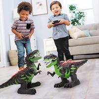 Electronic remote control multifunction large children's educational toys 8 way 2.4 rc tyrannosaurus Rex simulation dinosaur toy