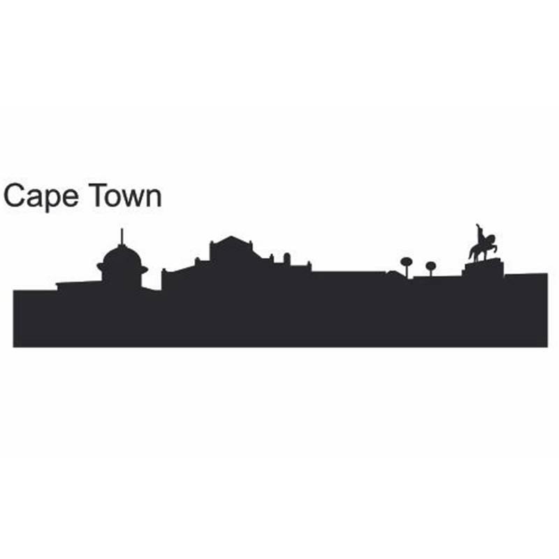 Garden Decor Cape Town: CAPE TOWN City Decal Landmark Skyline Wall Stickers Sketch