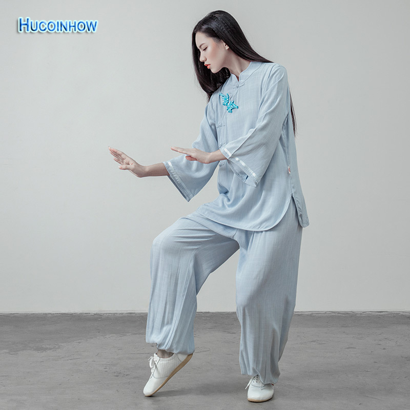 HUCOINHOW New Tai Chi Women's Cotton And Linen Meditation Suits Breathable Yoga Suit Clothing Women Traditional Chinese Clothes brand 2016 spring summer yoga clothing set cotton linen meditation clothes high quality women buddhist set sports suits kk395 20