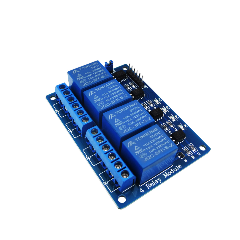 HAILANGNIAO 1pcs/lot 4 channel relay module 4-channel relay control board with optocoupler. Relay Output 4 way relay module fc 16 b 1 channel 24v relay module blue