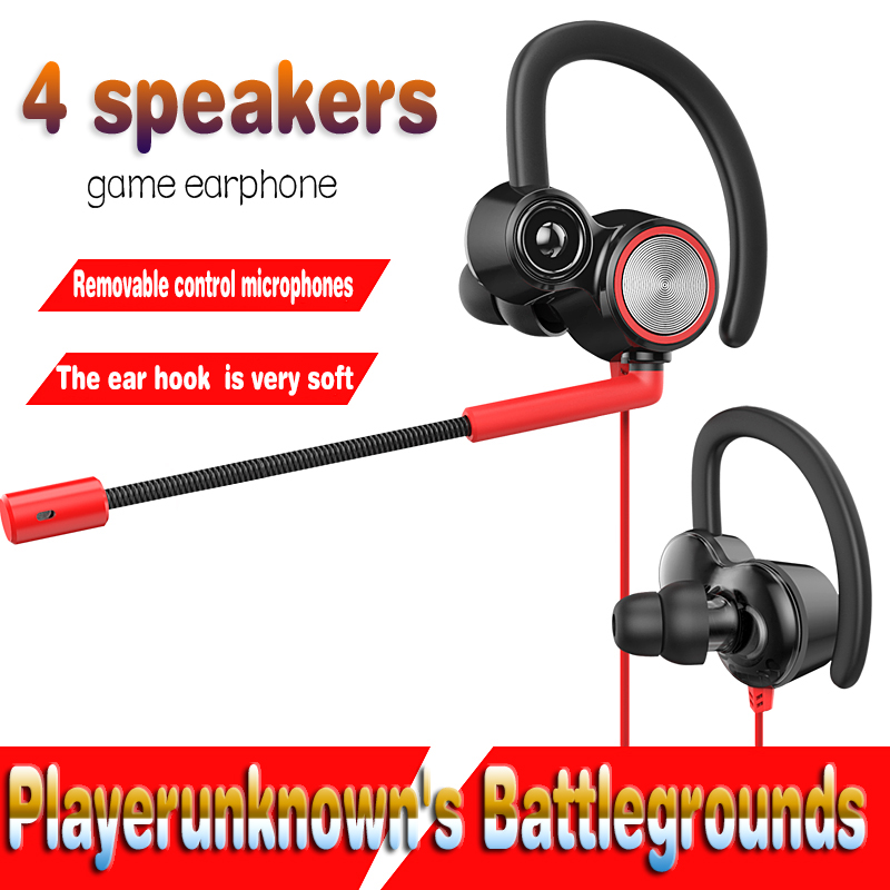 Playerunknowns Battlegrounds Gaming earphones Stereo PC Basswith Mic Wired Vibration games Headphoe PUBG Eat chicken earphones