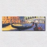 leinwand kunstdrucke von hand bemalt italien Venedig straße Ölgemälde Schiffe auf dem Venedig straße