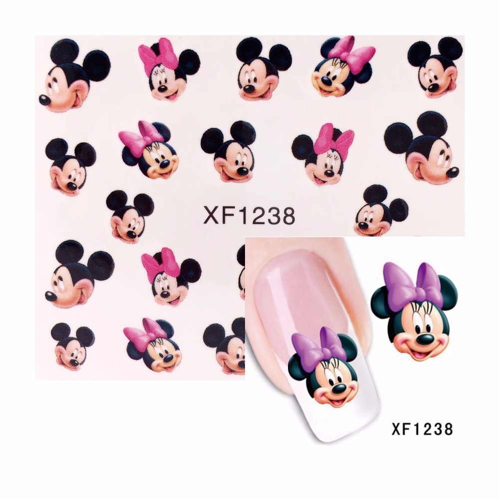 ZKO 1 Sheet Nail Art Stickers Cute Catton Design Wraps Decoration Decal DIY Tips 1238 1 sheet beautiful nail water transfer stickers flower art decal decoration manicure tip design diy nail art accessories xf1408