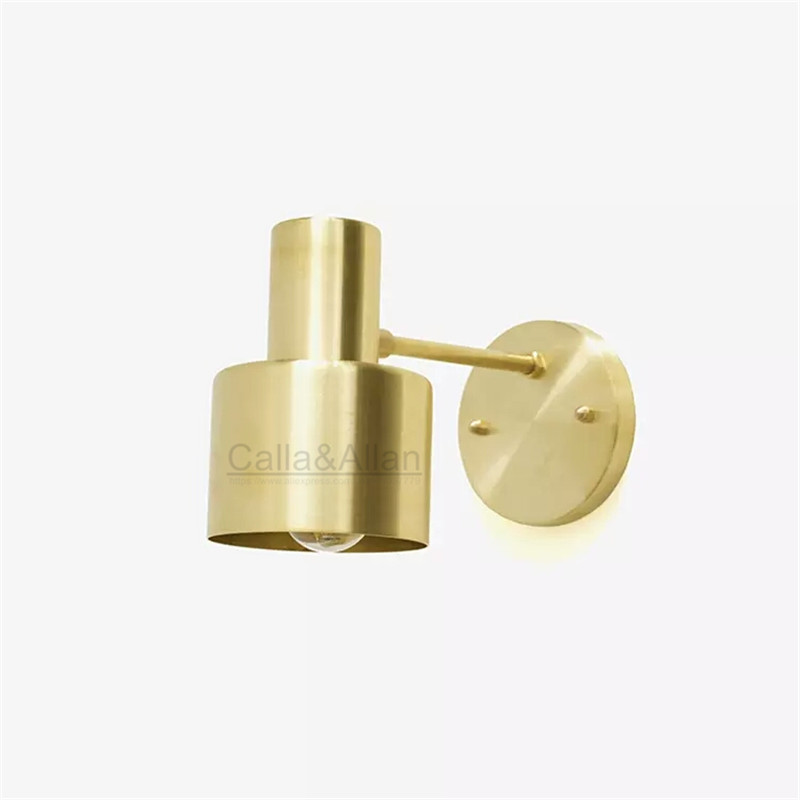 E27 brass wall light 110V 220V simple single LED sconce fixture D100mm copper wall lamp home decoration washroom mirror lighting 10cm size copper ball shade lighting 100% pure copper wall light brass sconce lighting fixture led brass wall lamp