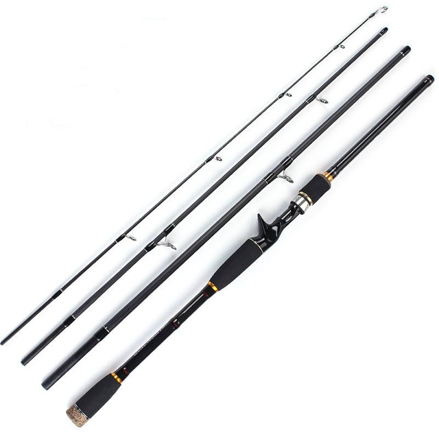 UCOK 1pcs/pack 1.8m/2.1m/2.4m/2.7m/3.0m luxurious portable lure rod spinning/casting handle super hard carbon bass salmon rod