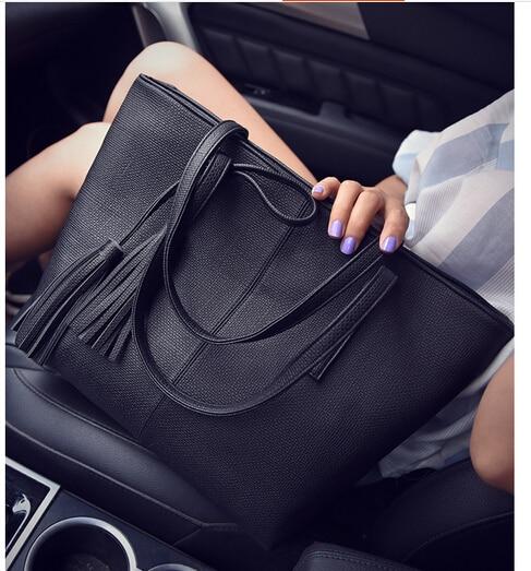 Fashion cute <font><b>women&#8217;s</b></font> vintage handbag brief one shoulder <font><b>bag</b></font> large capacity <font><b>bag</b></font> multi candy color black/gray/pink/green