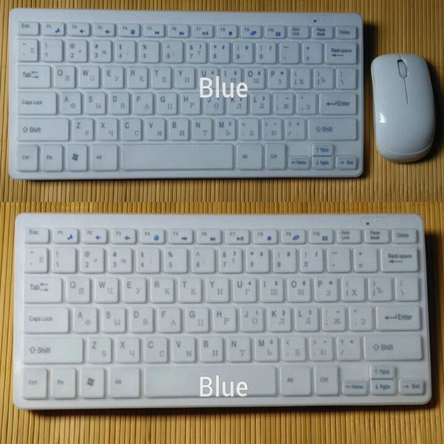 2.4G Wireless Keyboard And Mouse Russian Hebrew Arabic Language for ...