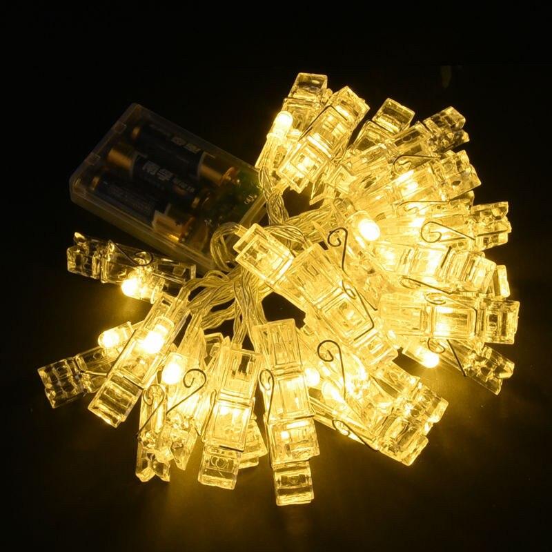 Feimefeiyou 20 LED Işıkları Yaratıcı Lamba Klip Zincirler Flaş - Şenlikli Aydınlatma - Fotoğraf 3