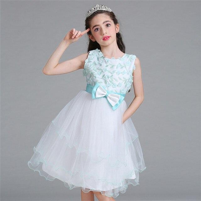 21ab772491 Flower Girl Sukienka Na Wesele Urodziny Stroje Dla Dzieci 3-10 Lat Dziecko  Dziewczyny Pierwsza