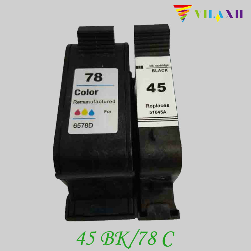 vilaxh 45 78 Compatible Ink Cartridge Replacement for HP 78A 45A 51645A C6578A For Deskjet 1120c 1125c 1180c 1220c 9300 Printer color xiongcai compatible ink cartridges for hp 78 deskjet 1220c 3820 3822 6122 6127 920c 930c 932c 940c 950c printers for hp78