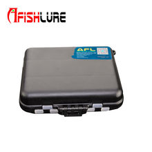 Afishlure AT02 Practical double layer lure box hard plastic fishing bait case 12cmX10cmx3.4cm fishing tackle tool container