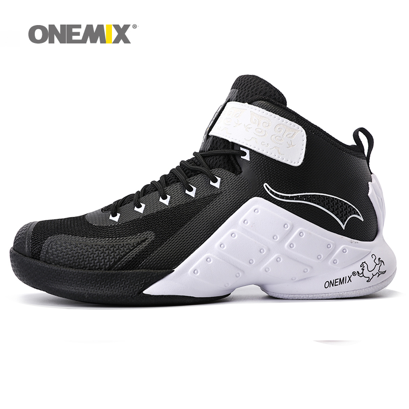 ONEMIX Newest men basketball shoes male ankle boots anti-slip outdoor athletic sport shoes male sneakers size EU40-46 peak sport men outdoor bas basketball shoes medium cut breathable comfortable revolve tech sneakers athletic training boots