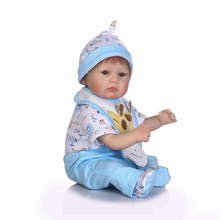 Reborn dolls for baby toys 17″ 42cm soft silicone reborn baby dolls real newborn baby twin looking child bebe gift reborn boneca