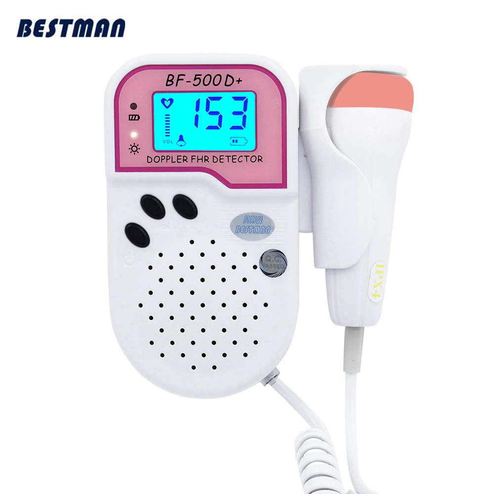Fetal Doppler Baby Heart Rate Monitor LCD Display FHR Professional Home Use Fetal Doppler Fetus Heart Rate 2MHz Probe Pregnant