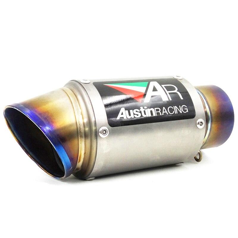 Personalizzato Ingresso da 51mm 61mm 63mm 65mm Moto tubo di Scarico Tubo di Lega di Titanio AR Moto Silenziatori Fuga per S1000RR ect