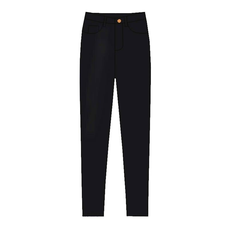 Décontractés noir Pantalon Femelle 2019 Rétro Jeans Femmes Cheville gris Nouvelle De Printemps Longueur Blue Mode FnTq4w0CZ