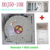50KG 10M Wall Switch+Remote Controlled Lighting Lifter Chandelier Hoist Lamp Winch Light Lifting System,110V,120V,220V,230V,240V