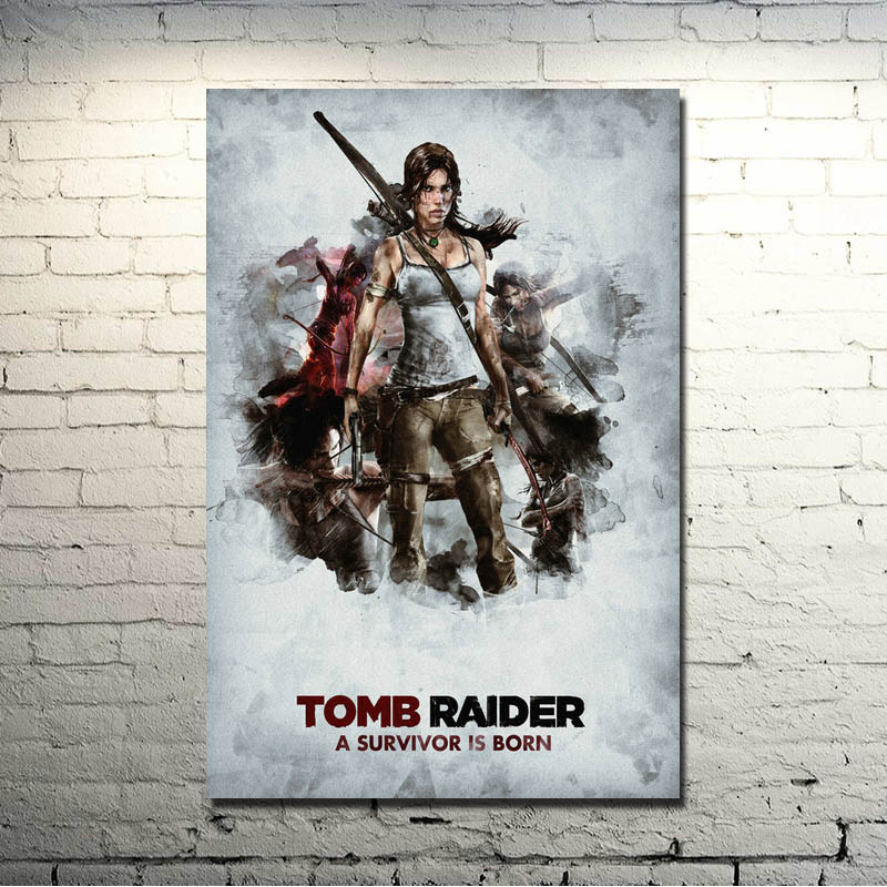Tomb Raider Лара Крофт игры Книги по искусству Шелковый плакат печать 13x20  inchestourniquet оказать изображение для Декор в гостиную 010 ac0c8a48756b5