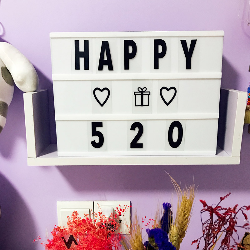 96 Letter and character LED Concise Letter Lamp Innovative DIY Letter Spelling Puzzle LED Light Box LearningToy New letter
