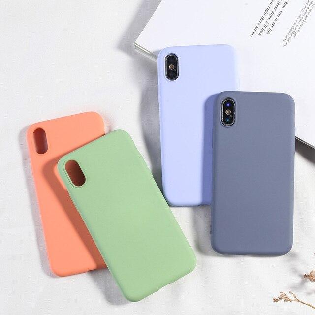 Einfache Candy Farbe Telefon Fall Für iPhone XS MAX X XR 7 8 Plus Weiche TPU Silikon Zurück Abdeckung Für iPhone 6 6 s Plus NEUE Mode Capa