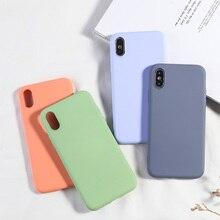 Funda de teléfono Simple de Color caramelo para iPhone XS MAX X XR 7 8 Plus, funda trasera de silicona suave de TPU para iPhone 6 6s Plus, nueva Capa de moda