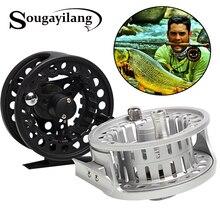 Sougayilang Winter Fishing Full Metal Body Aluminium Alloy Fly Fishing Reel Wheel Fishing Coil Wheel Fly Fishing Wheel Tackle