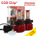 2016 NEW PSX24W H16 5202 60W 6000LM COB Chip LED Headlight Conversion Kit 2 Colors 5000K Yale Yellow 6000K White Bulbs Lamp Pair