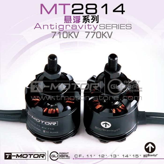 Tiger motor  rc plane brushless motor T-motor 2814-11 KV710 KV770 antigravity! (2pcs/set) for Multicopters with CW/CCW adapter tiger motor t motor mn2212 kv750 kv980 brushless motor for multicopter rc plane