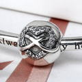 2016 Jewelry 925 Sterling Silver Beads for Bracelets Infinity Heart Clip Vintage Ornament for Office Lady Gift for Women Cute