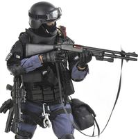 12 inch 1/6 scale Los Angeles U.S.A super police Action figures SWAT team with shield Rifle gun suit model Assualter doll toys