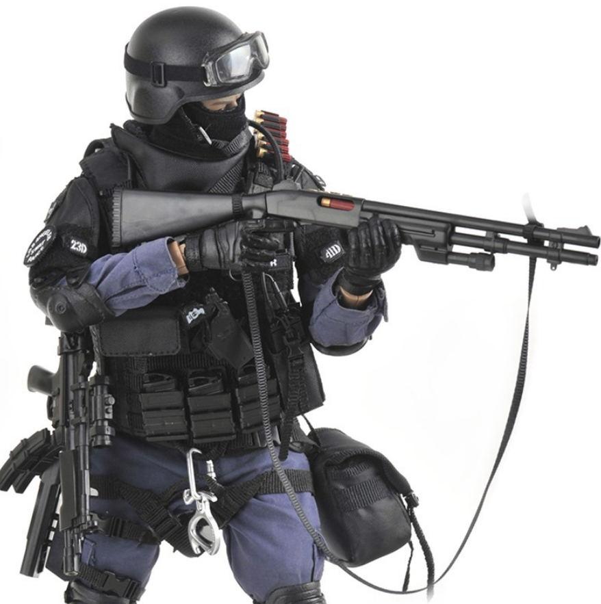 12 pouces 1/6 échelle Los Angeles états-unis super police figurines SWAT équipe avec bouclier fusil pistolet costume modèle Assualter poupée jouets