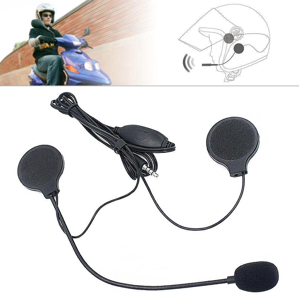 Universal Headset Helmet Earphone 3.5MM Plug Motorcycle Headphone Handsfree With MIC For MP3 MP4 Hot