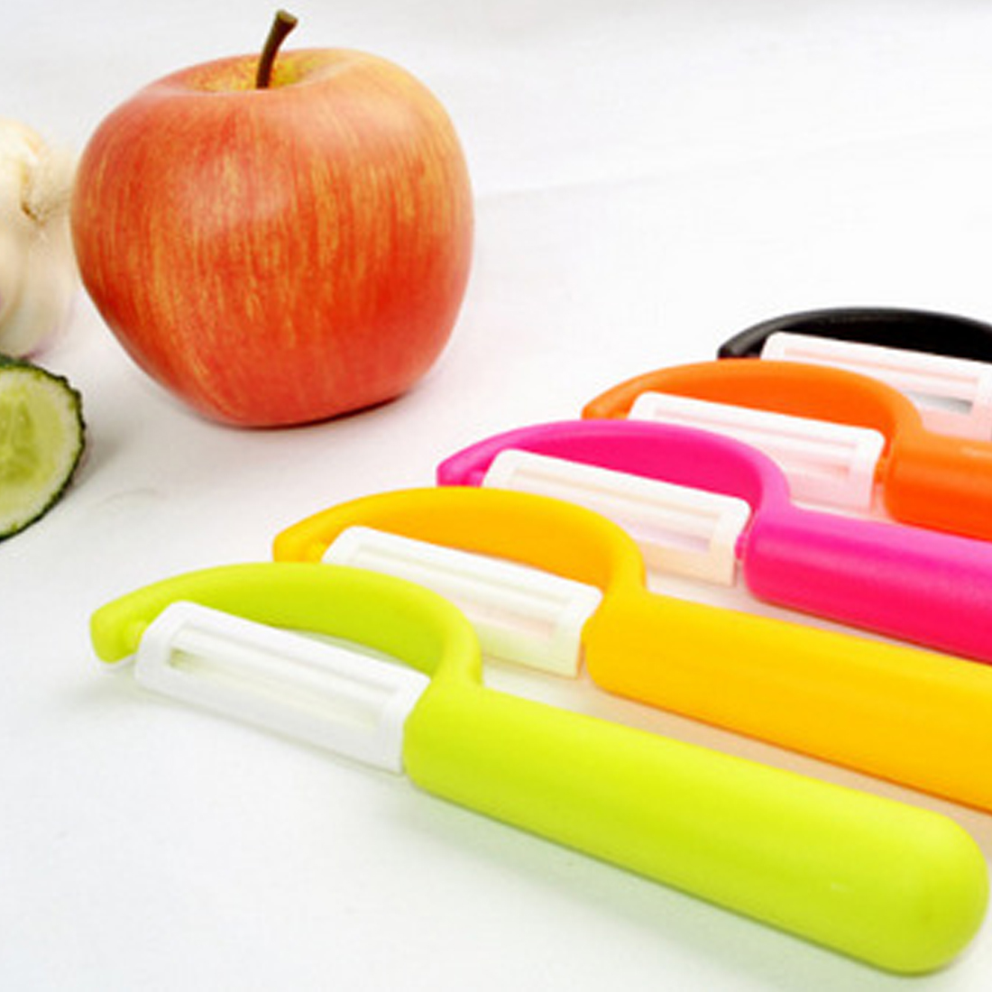 Utensilios de cocina prácticos de cerámica de Zirconia, pelador de frutas y verduras, cuchillo de cocina, pelador de patatas, pelador de colores al azar