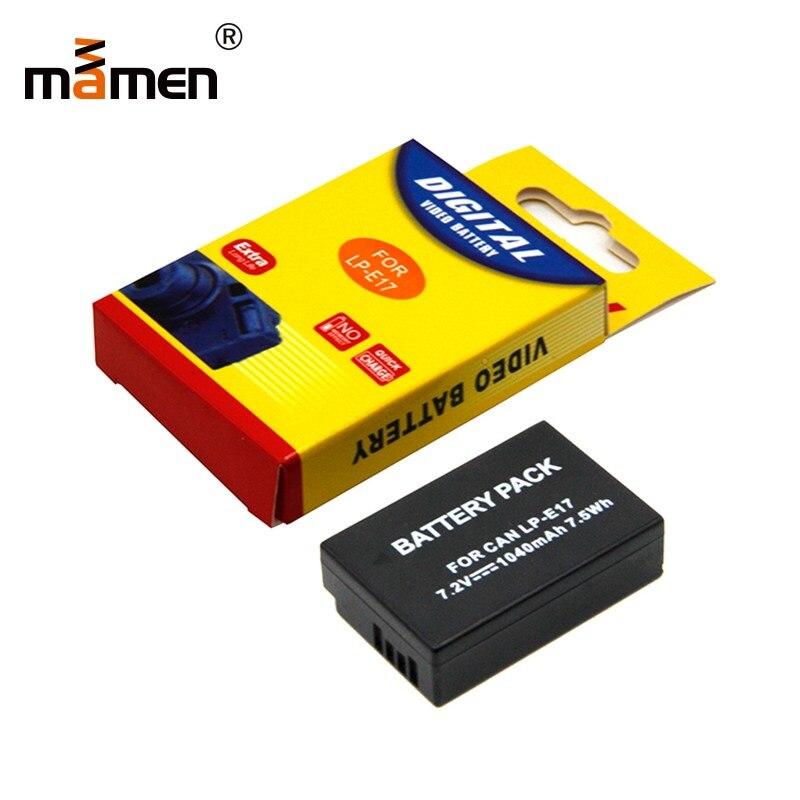 Mamen LP E17 Rechargeable Replacement Camera Battery For Canon EOS M3 M5 M6 750D 760D 800D 77D 1040mAh 7.2V Lithium BatteryMamen LP E17 Rechargeable Replacement Camera Battery For Canon EOS M3 M5 M6 750D 760D 800D 77D 1040mAh 7.2V Lithium Battery