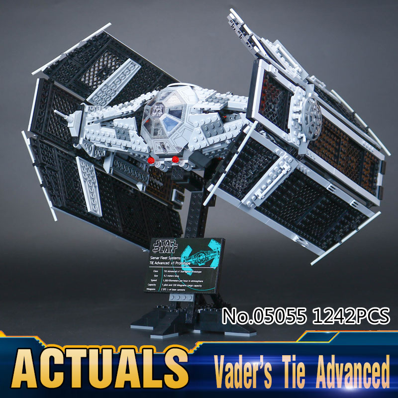 ФОТО New Lepin 05055 Star War Series The Rogue One USC Vader TIE Advanced Fighter Set 10175 Building Blocks Bricks Educational Toys