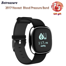 Betreasure 2017 Bluetooth Smart WristBand Blood Pressure Heart Rate Monitor Fitness Bracelet Smart band PK Xiaomi mi band 2