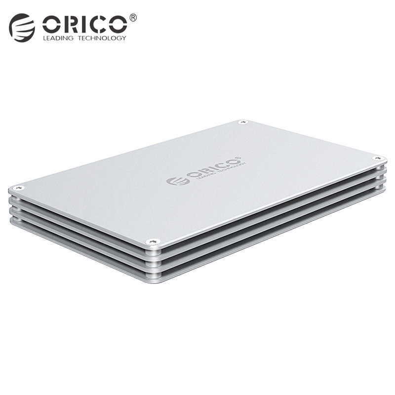 ORICO 2.5Inch DIY HDD Enclosure SATA to USB3.0 Type-C Aluminum Hard Drive Box External Type C HDD Case for HDD Samsung Seagate ugreen hdd enclosure sata to usb 3 0 hdd case tool free for 7 9 5mm 2 5 inch sata ssd up to 6tb hard disk box external hdd case