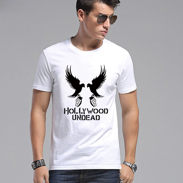 Hollywood Undead Bird Pigeon Graphic Print T Shirt White