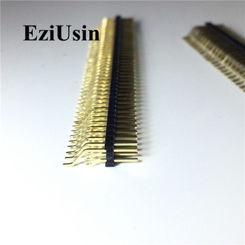 цена на 2.54mm Single Double Row Male 40P PCB Board Horizontal Pin Header Connector Pinheader Lying SMT 1*40p 2*40p For Arduino