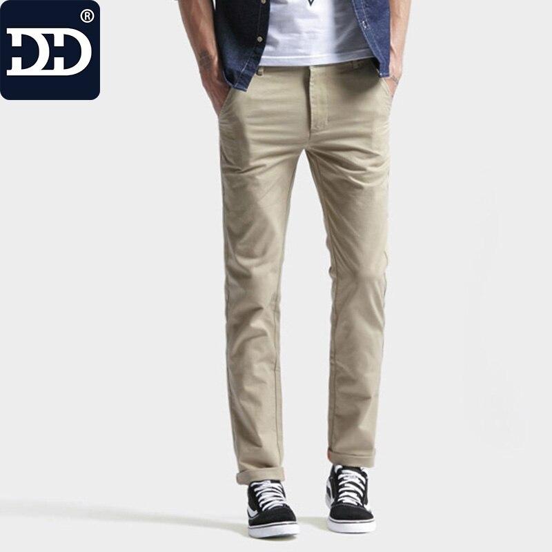 2017 Nouvelle Arrivée Mince Maigre Pantalon Haute Stretch Crayon Pantalon Mince pantalon Hommes Élastique Coton Pantalon Hommes Pantalons Longs Pour Hommes Mince