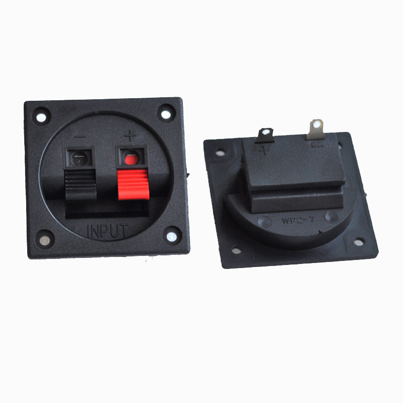 2pcs speaker junction box cable adapter 2 way connector speaker clip seat two terminal block. Black Bedroom Furniture Sets. Home Design Ideas