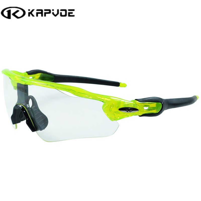 Kapvoe Photochromic Cycling Sunglasses Polarized Sports Sunglasses Men Women MTB Mountain Road Bicycle Eyewear Cycling Glasses